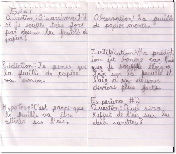 Carnet Journal De Bord Exemple